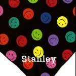Smiley Face Black Dog Bandana