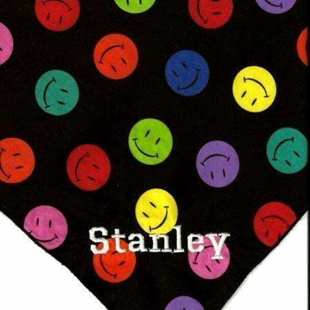 Smiley Face Black Dog Bandana