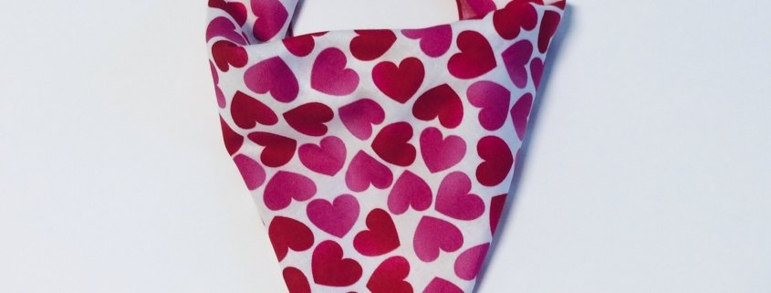 Valentine's Day Heart Dog Bandana