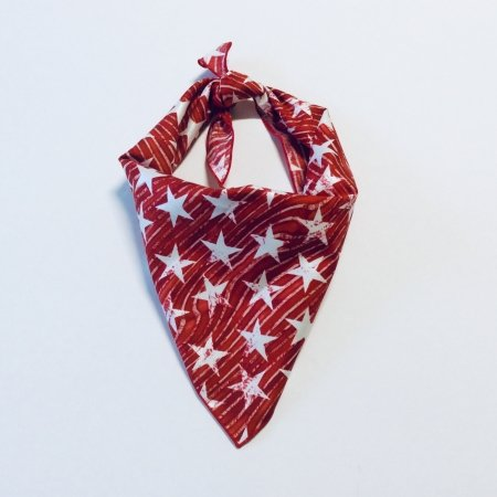 Red Waving Stars Dog Bandana