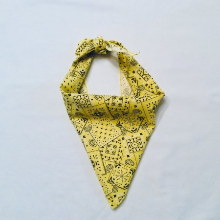 Yellow Blazin Dog Bandana