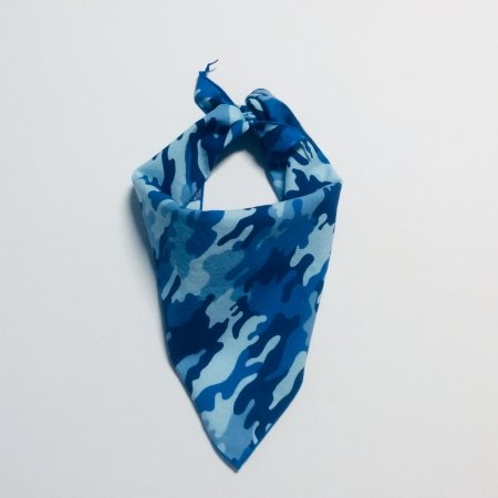 Blue Camo Dog Bandana