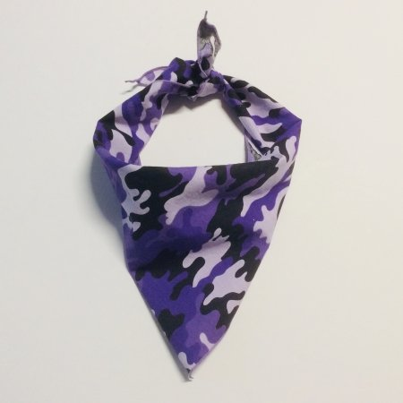 Purple Camo Dog Bandana