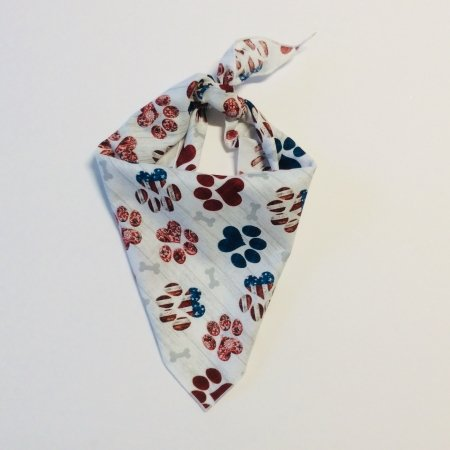 USA Paw Prints Dog Bandana